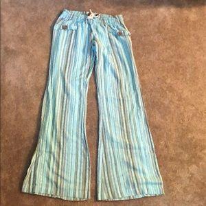 Billabong low rise wide leg cotton pants